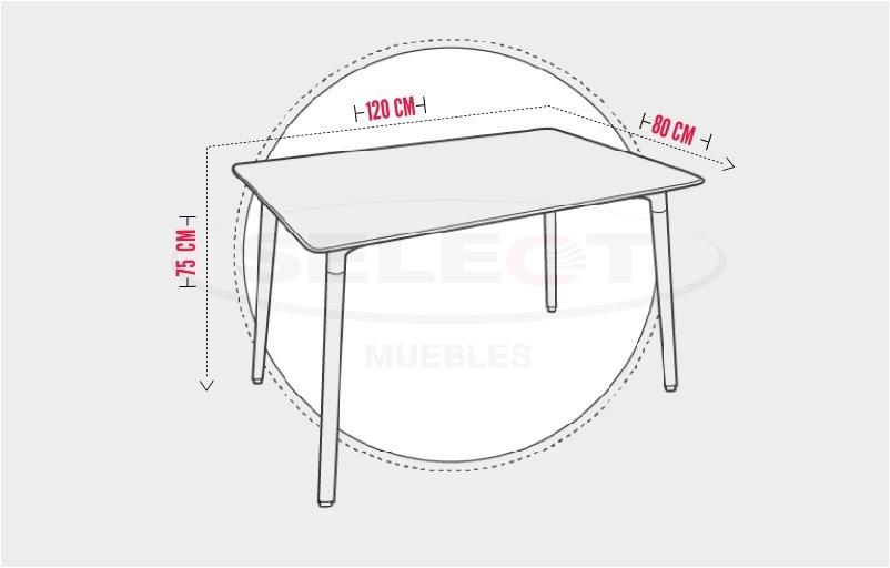 Mesa Comedor Importado Diseño Moderno 6 Puestos. Reiva Negro ...