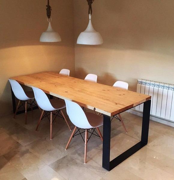 mesa de comedor hierro y madera