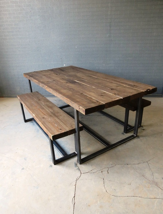 Mesa Comedor Industrial Metal Madera Vintage A La Medida ...