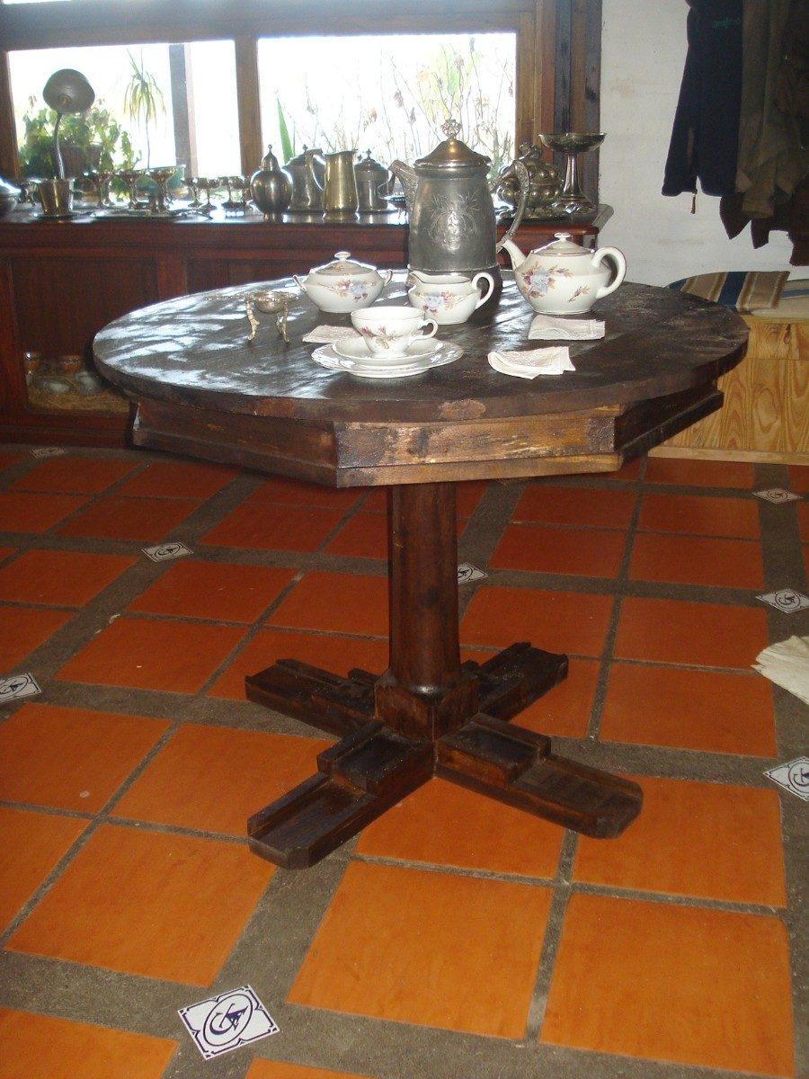 Mesa Comedor Lapacho Cocina Living Redonda Rústica - $ 3.000,00 en ...