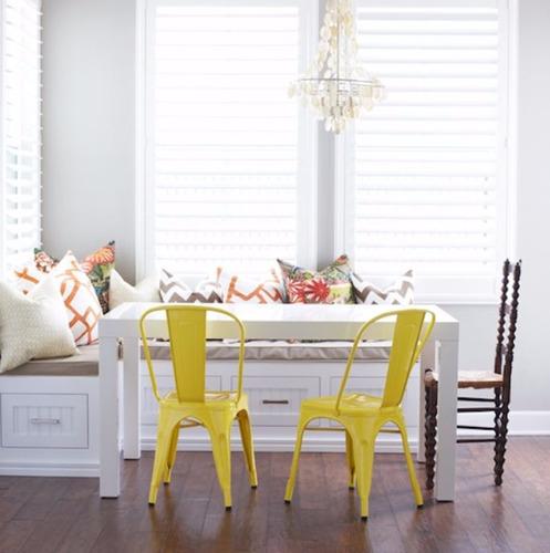 mesa comedor laqueada madera moderna escritorio blanca 1.4 m