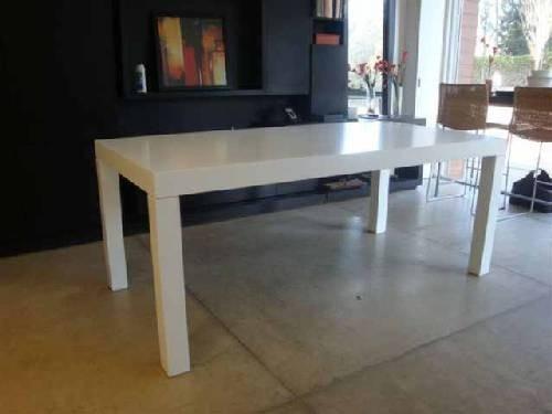 mesa comedor laqueada minimalista madera moderna asia 160cm.