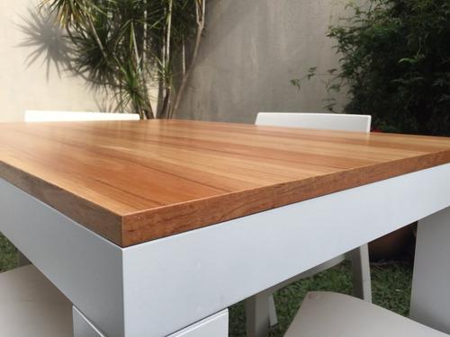 mesa comedor laqueada paraiso base blanca 140x80