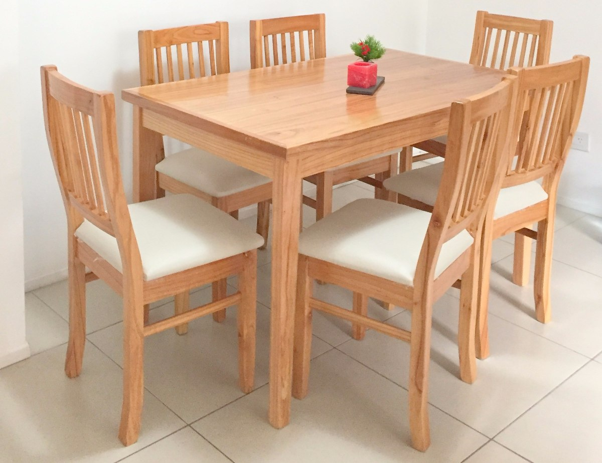mesa comedor living madera paraiso laqueada minimalista cargando zoom - Mesas De Comedor Madera