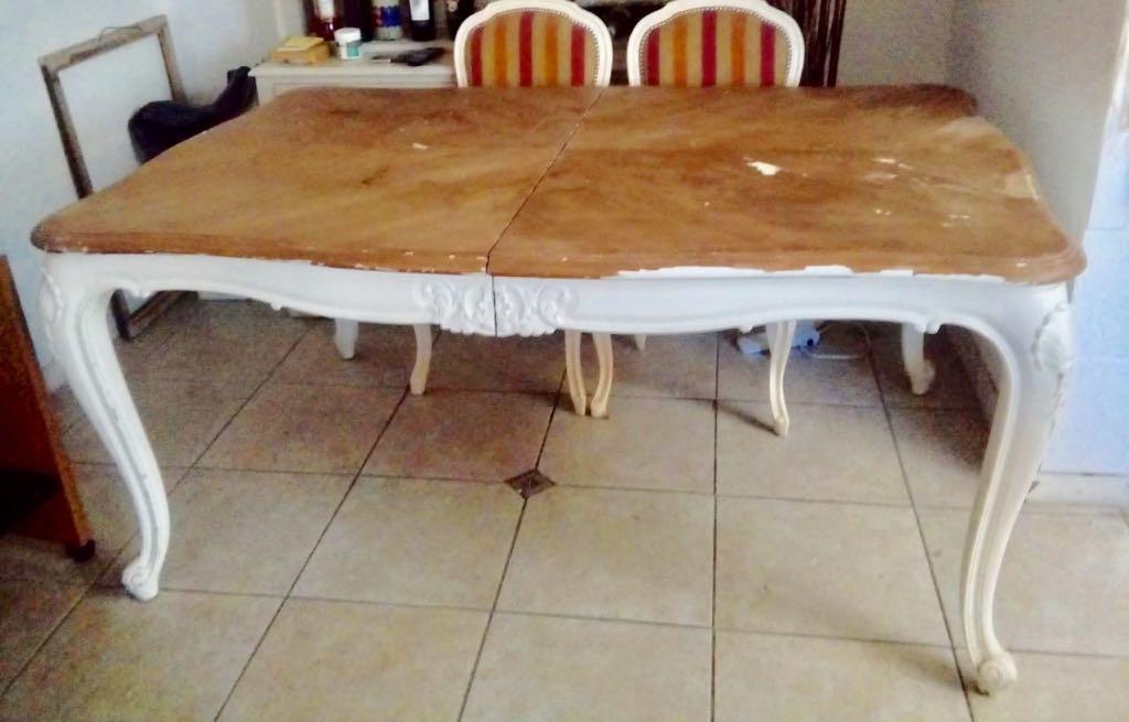 Mesa Comedor Luis Xvi Original !!!! - $ 26.000,00