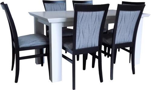 mesa comedor maciza laqueada rectangular 1,8 prisma 18
