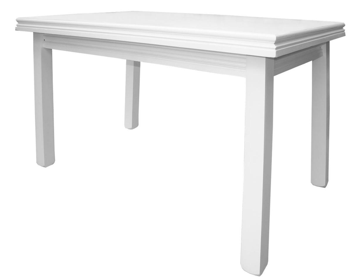 mesa comedor cocina madera x blanca