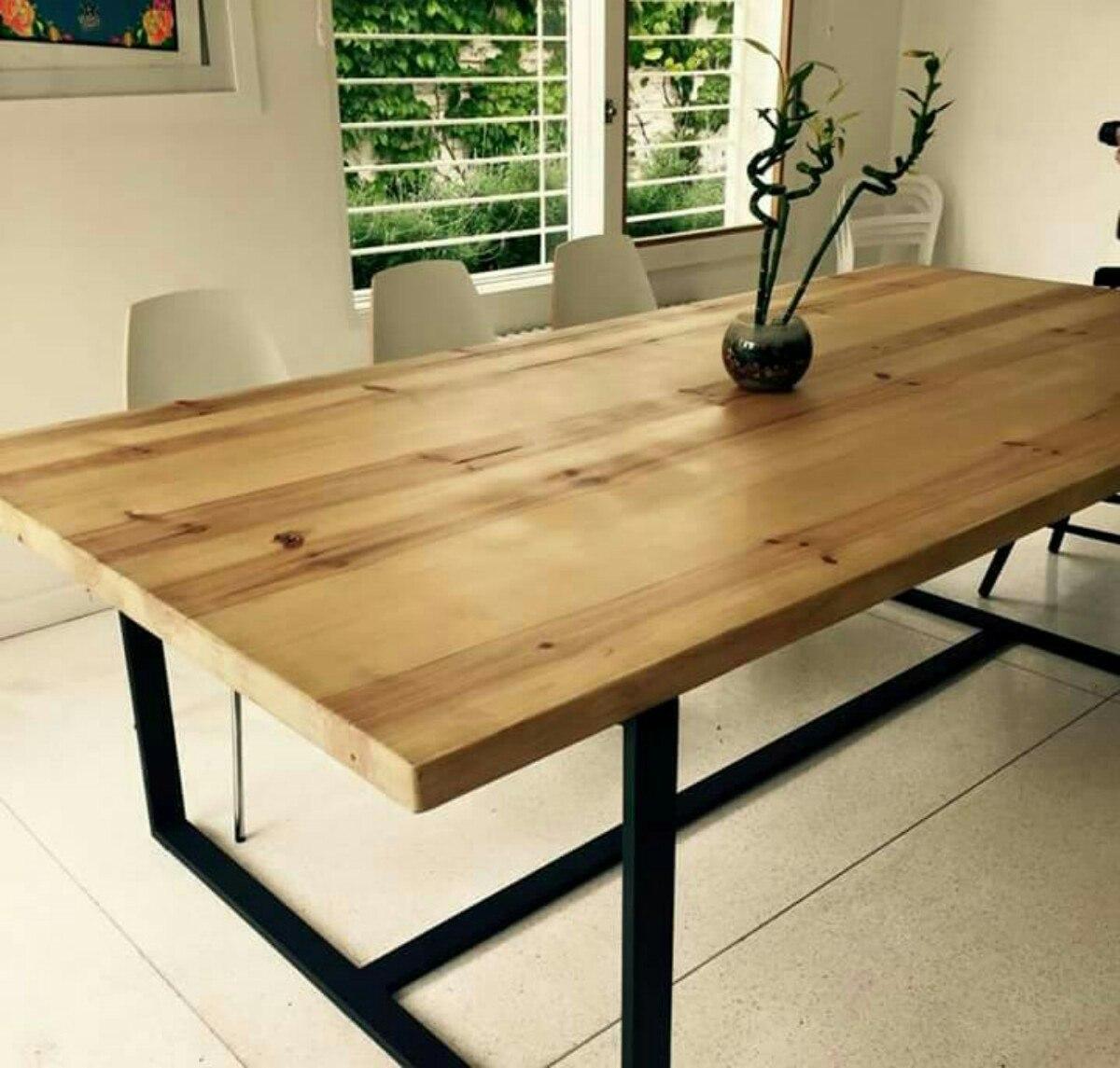 Mesas comedor de madera haga click para agrandar mesa for Mesas de comedor madera