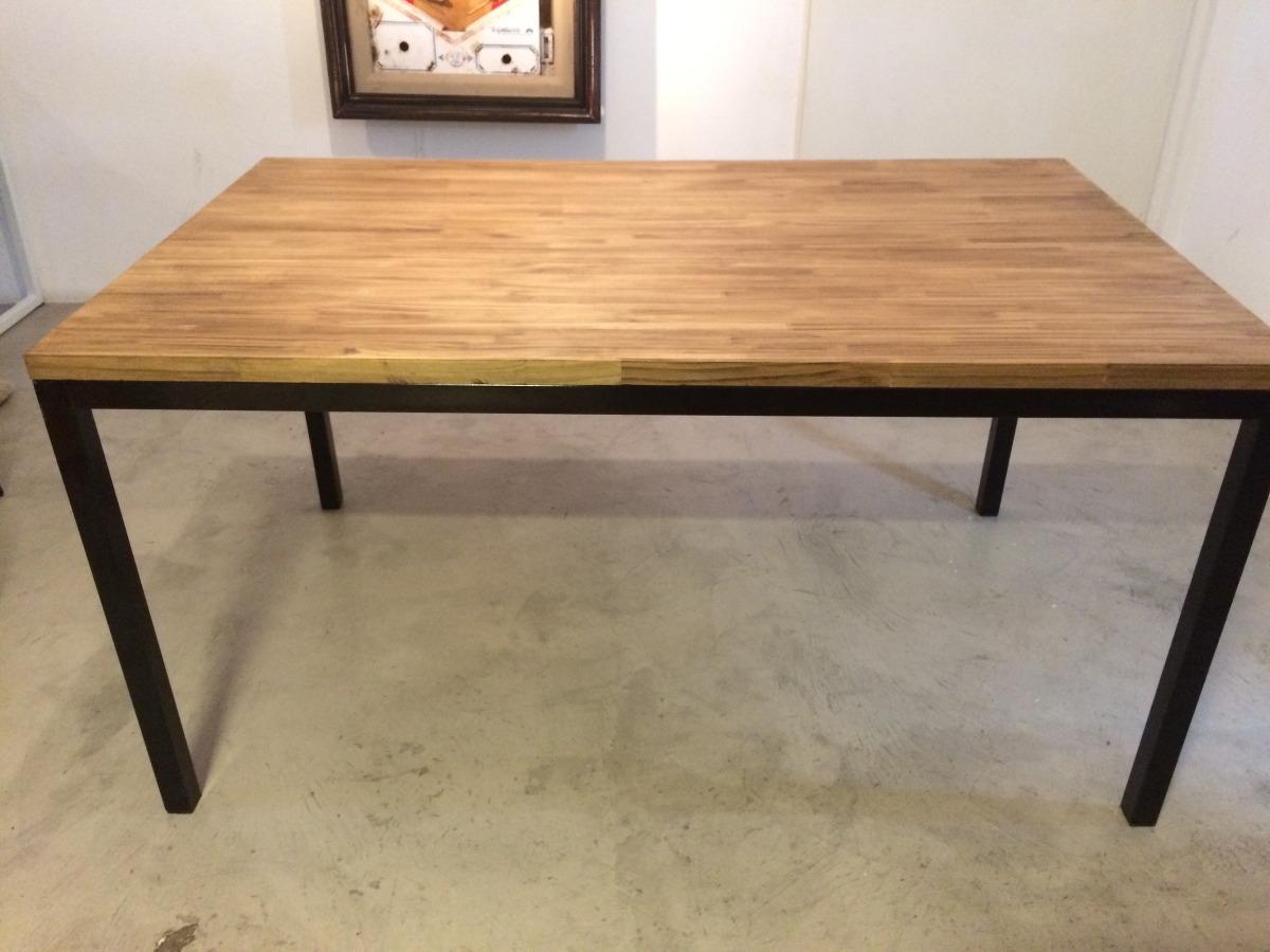 Mesas comedor de madera haga click para agrandar mesa - Mesa madera hierro ...