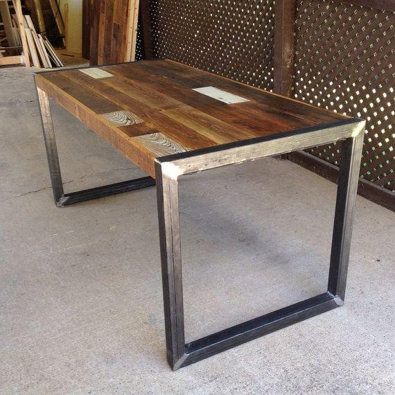 Mesa comedor madera hierro diseño industrial    7.199,00 en ...