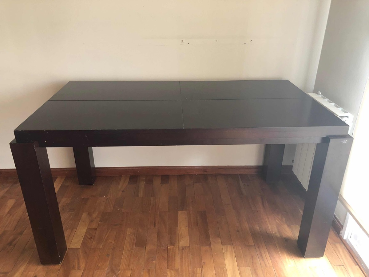 Mesa Comedor Madera Laqueada Wengue - $ 2.800,00 en Mercado Libre