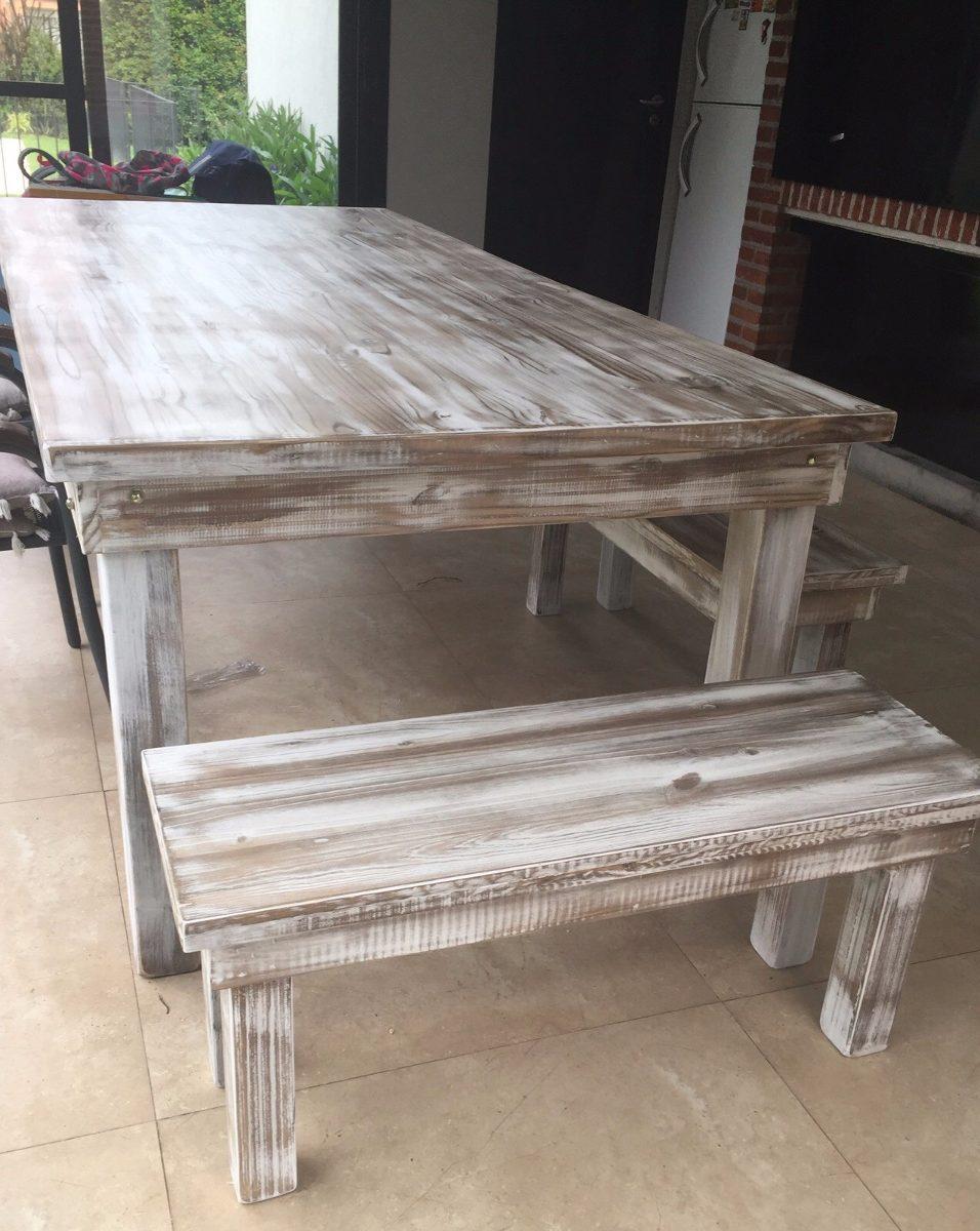 Mesa de comedor madera maciza mesa comedor con sillas for Mesa comedor madera maciza