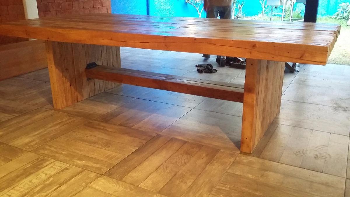 Mesa comedor madera maciza polin palet pallet tarima for Mesa comedor madera maciza