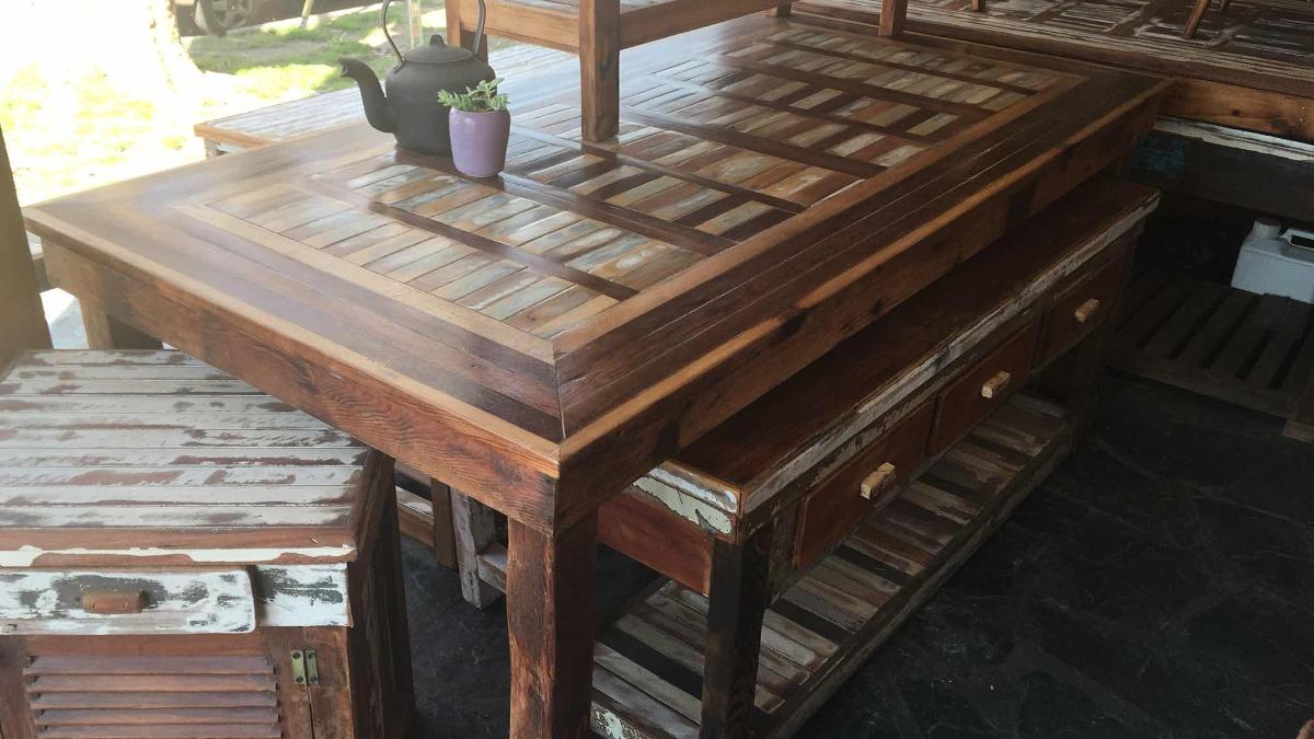Mesa Comedor Madera Reciclada Decape Vintage Rústicas - $ 12.999,00 ...