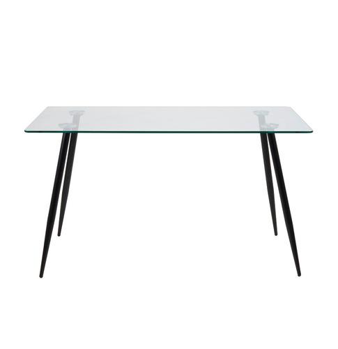 Mesa comedor madera vidrio cristal templado 140x80 for Mesa comedor cristal 120 x 80