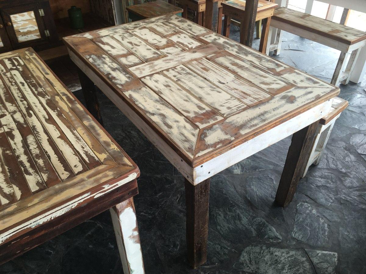 Mesa Comedor Maderas Recicladas Pinotea Decape Vintage - $ 7.499,00 ...