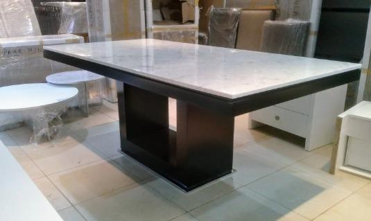 Mesa Comedor Marmol Carrara Minimalista Thalian - $ 100,00 en ...
