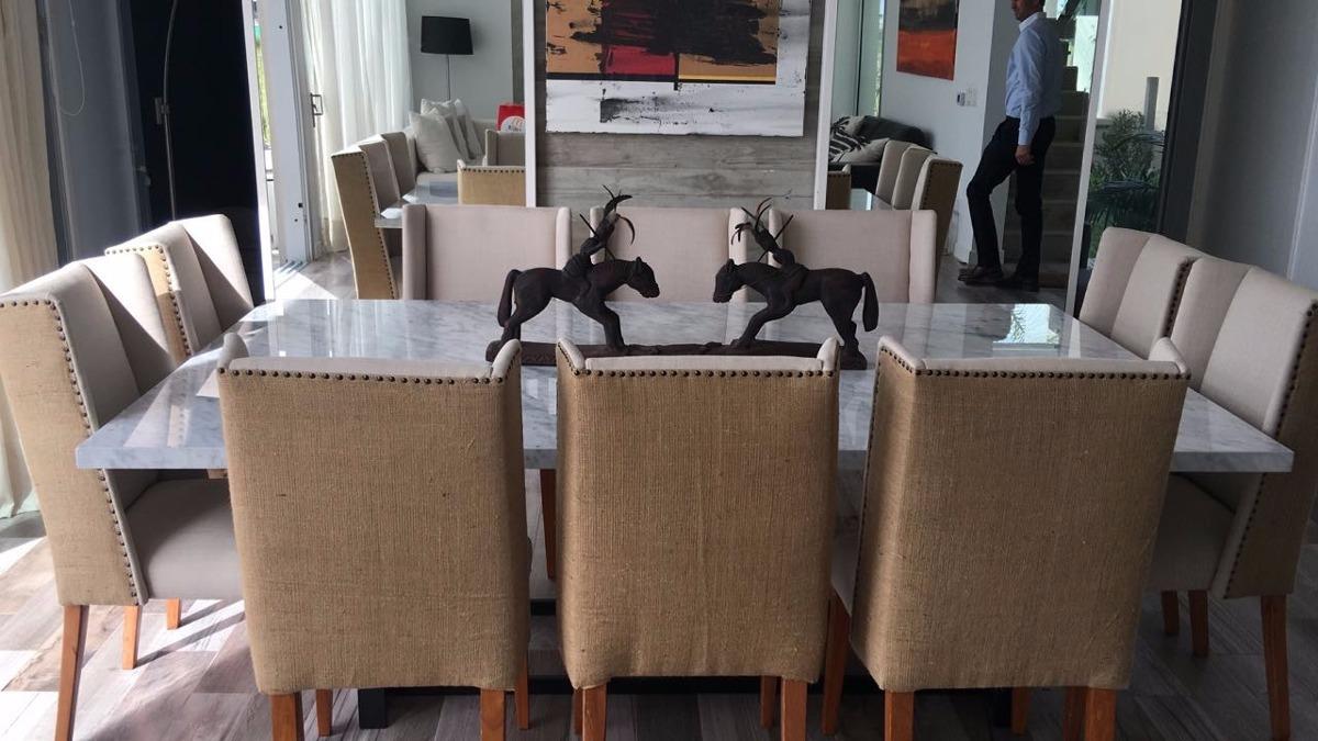 Mesa Comedor Marmol De Carrara Para 10 Sillas