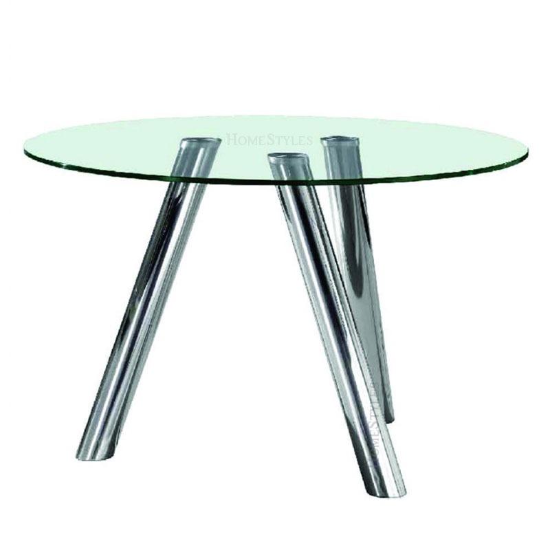 Mesa Comedor Mod. Alanis 130cm Ø Cristal 12mm Patas Acero - $ 22.000 ...