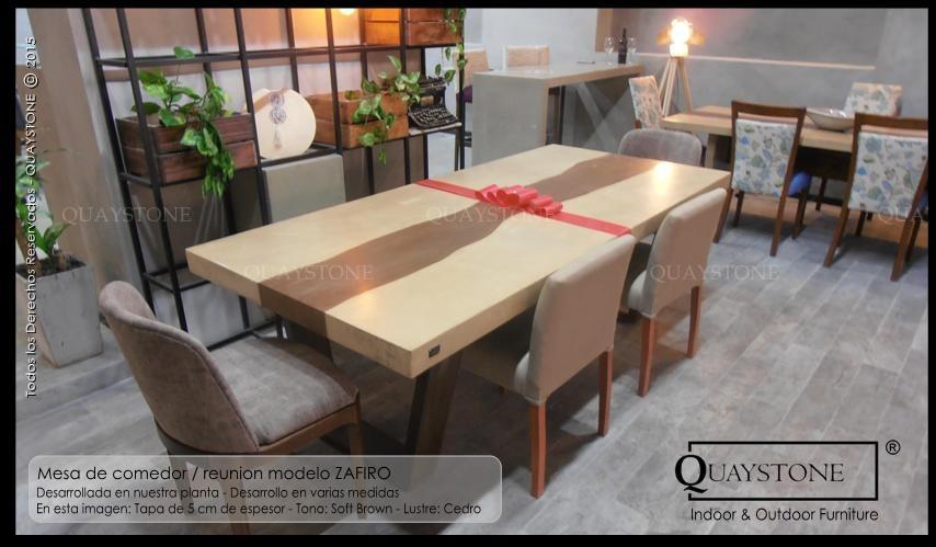 Mesa Comedor Moderna Diseño Pata Madera Silestone 1.4 X 0.9m ...