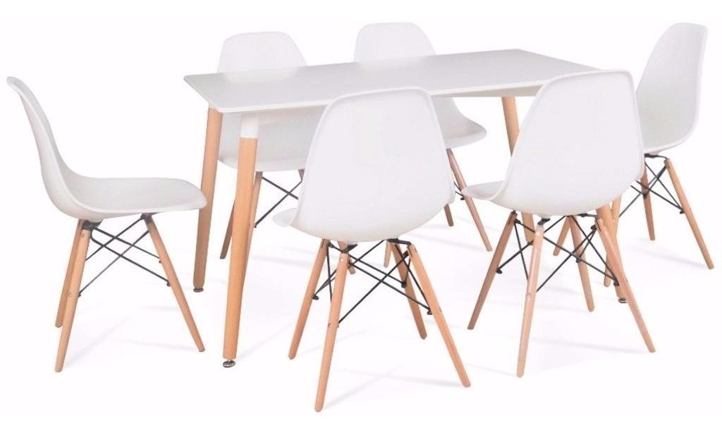 Mesa Comedor Moderna Eames 160x90 Y 6 Sillas - Liquidación!!