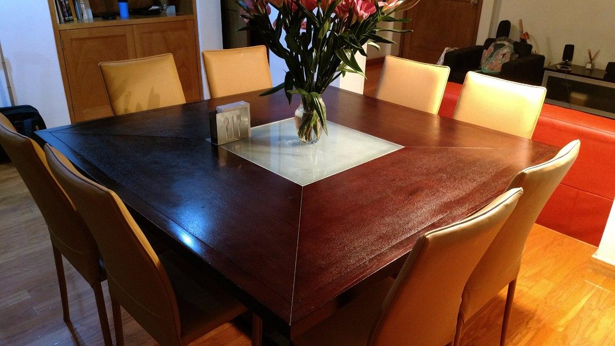 Mesa comedor moderna madera sin sillas y no incluye envio for Sillas comedor modernas polipiel