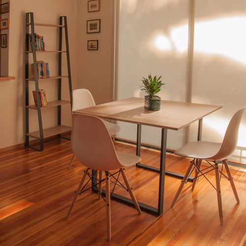 mesa comedor moderno sin sillas patas de acero envio gratis!