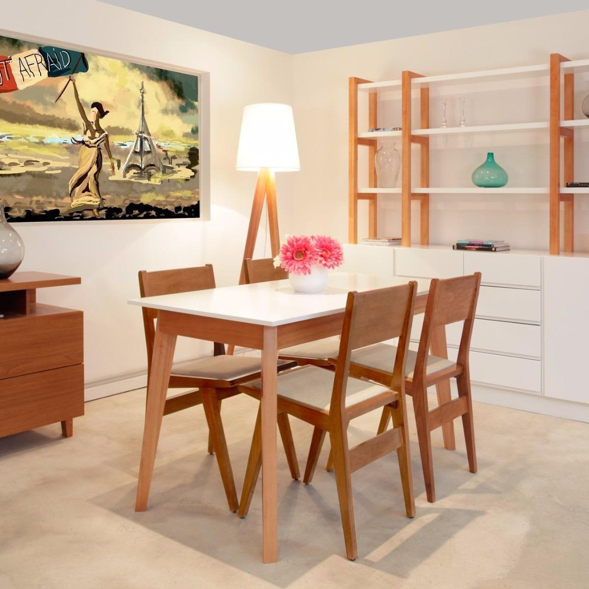 Mesa Comedor Rectangular Diseño Escandinavo Forbidan Muebles