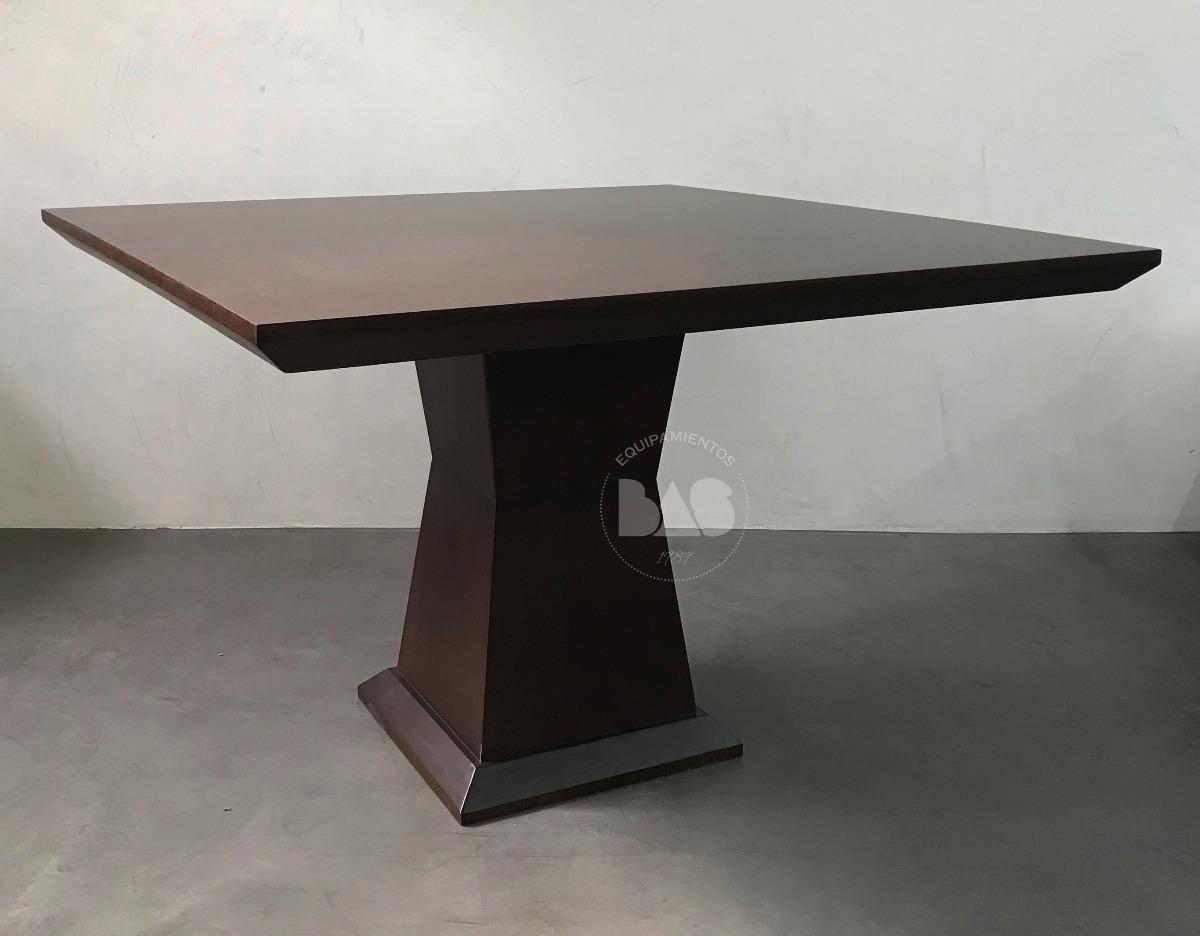 Mesa Comedor Net 120x120 Madera Lenga Poliuretano Wengue - $ 17.890,00