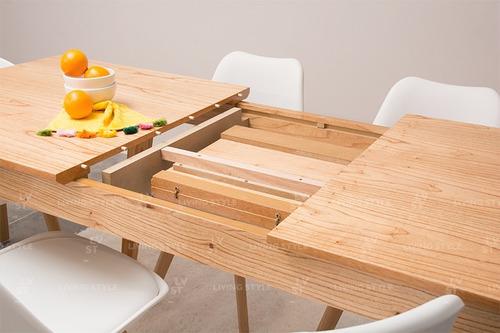 mesa comedor nordica escandinava extensible 140 a 180