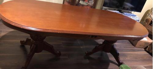 mesa comedor oval caoba
