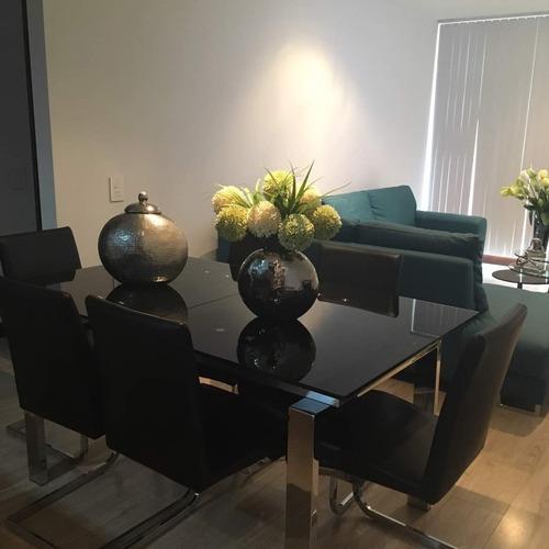 mesa comedor para 6 puestos negra en vidrio precio remate