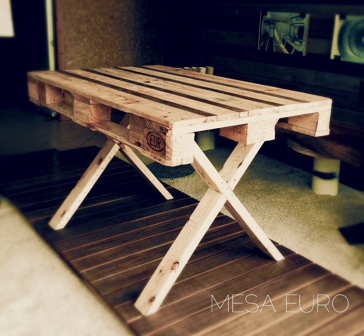 Mesa comedor picnic 4 pers para exterior de madera for Bar rodante de madera