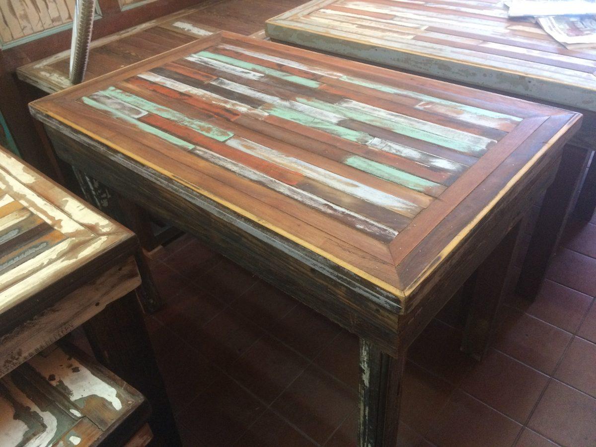 Mesa Comedor Pinotea Madera Reciclada Rustica Vintage Decap ...