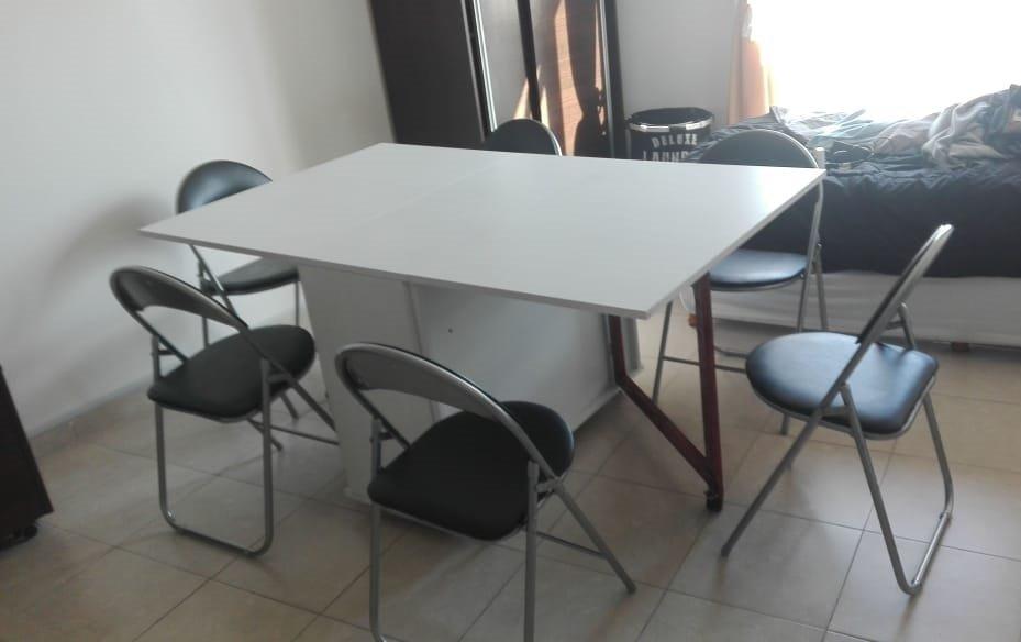 Mesa Comedor Plegable Multifunción De Diseño En Melamina - $ 5.900 ...