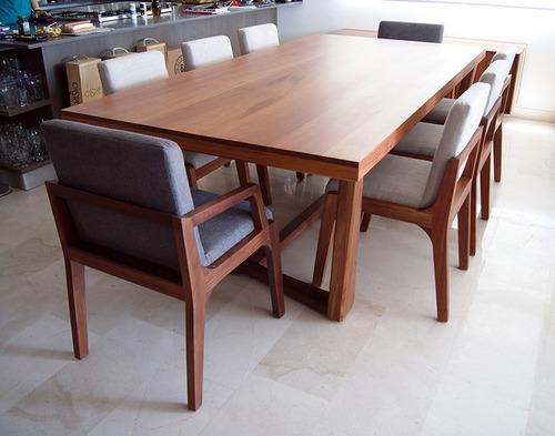 mesa comedor quadra, madera solida, diseño
