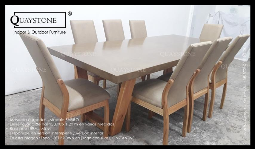 Mesa Comedor Quaystone Pata Madera Silestone 1m -fabrica - $ 10.600 ...