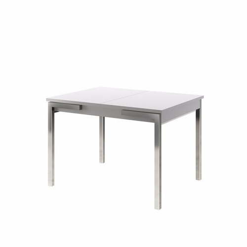 Mesa de comedor rectangular extensible blanco 77x160x80cm for Mesa comedor rectangular