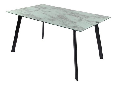 mesa comedor rectangular ferra marmol 140 x 80