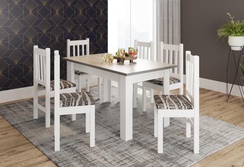 mesa comedor rectangular madera + sillas 28582 / fernapet