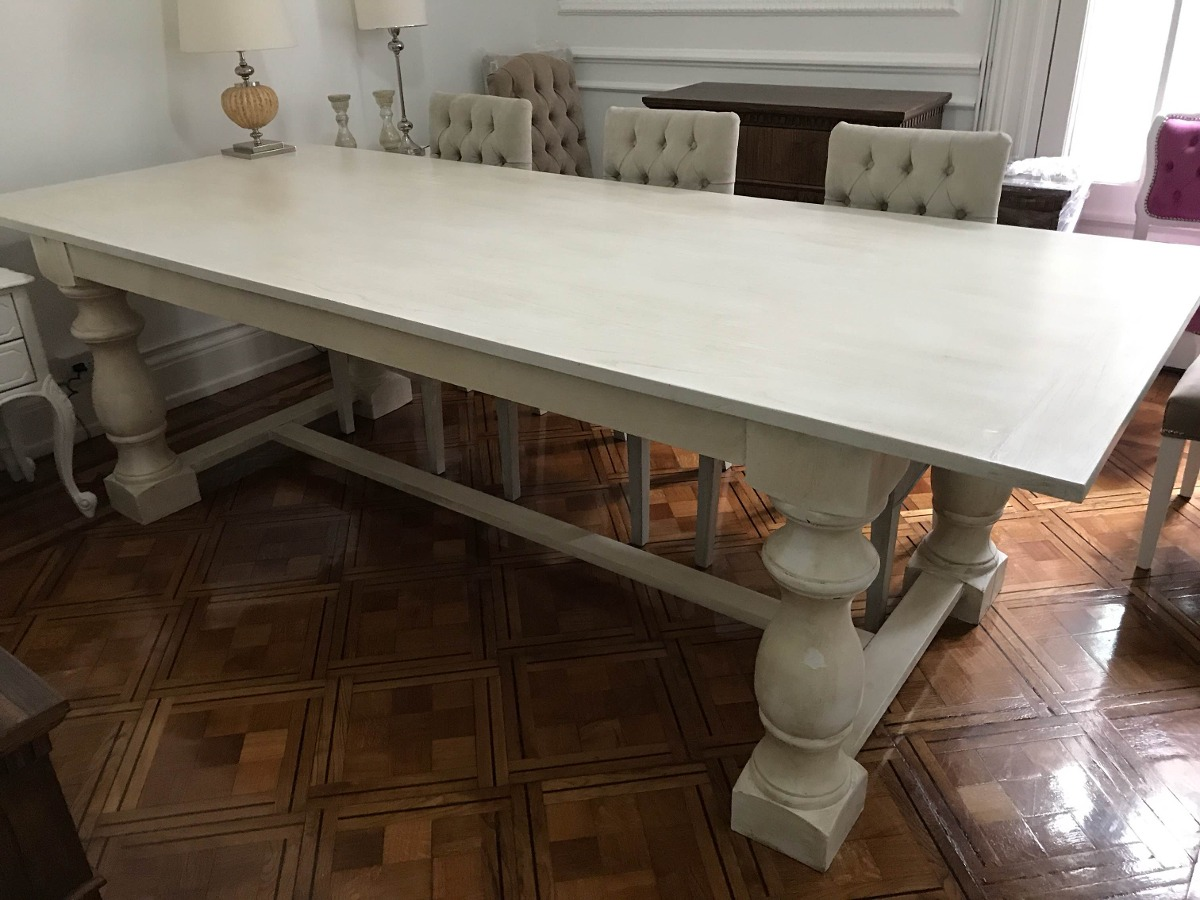 Mesa Comedor Rectangular Pata Torneada Restoration Oferta - $ 29.000 ...