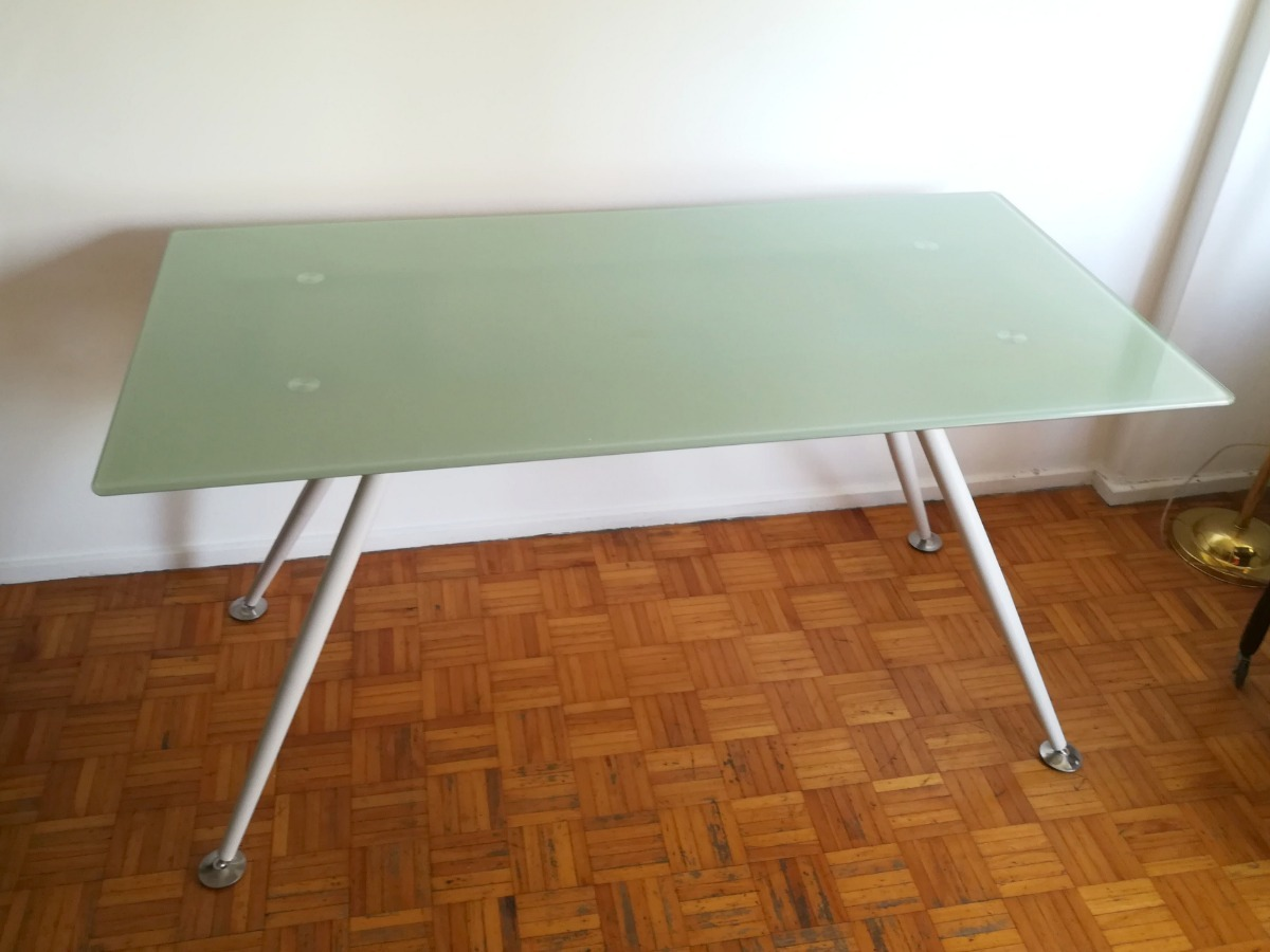 Mesa Comedor Rectangular Tipo Ikea Tapa De Vidrio 140x80cm - $ 2.500 ...