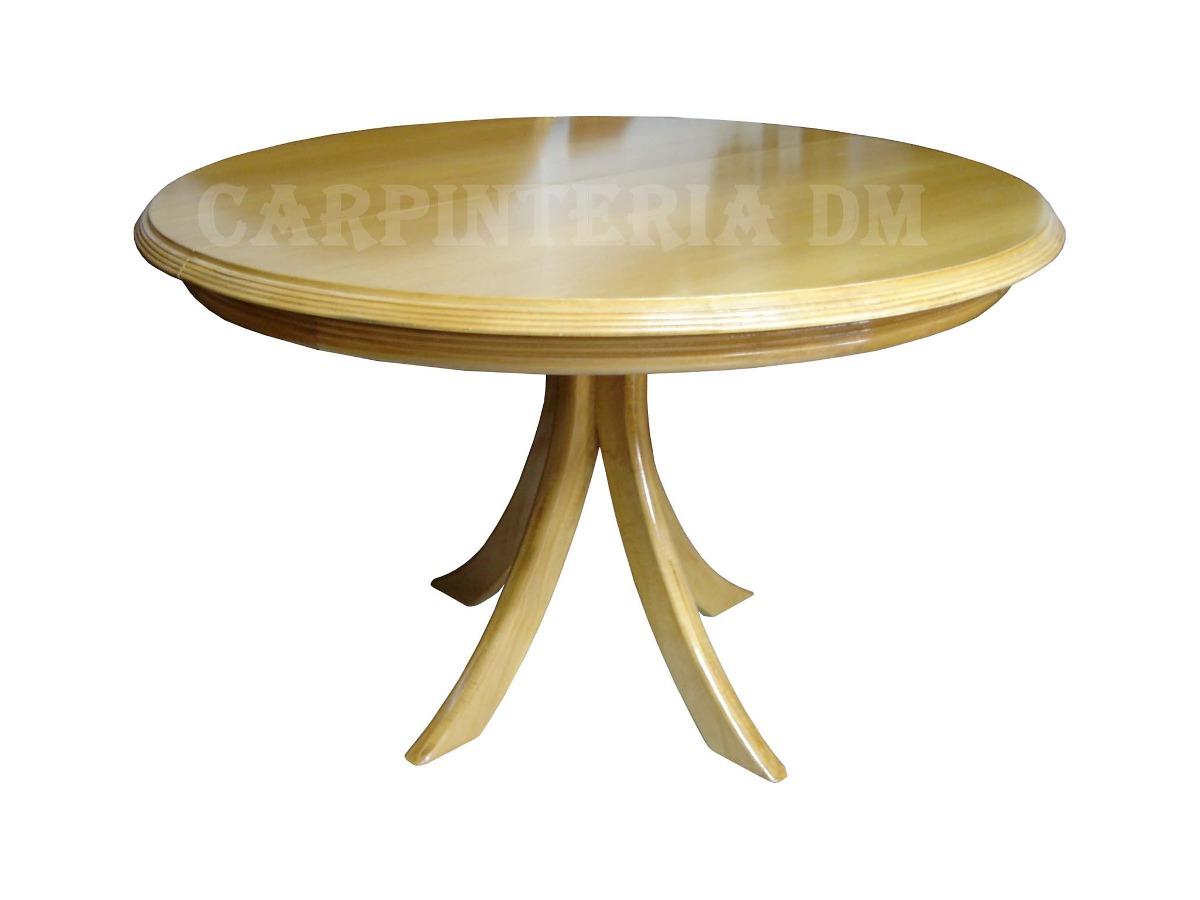 Mesa Comedor Redonda 100cm Extensible 40cm / Carpinteria Dm ...