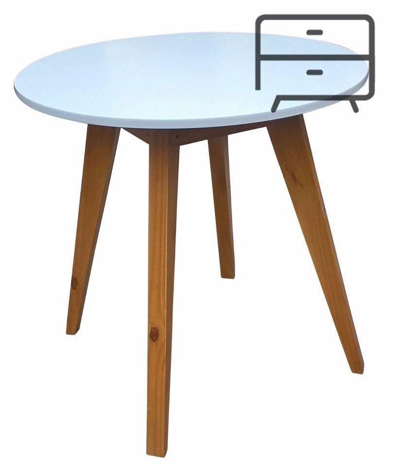 Mesa Comedor Redonda 80 Cm Diseño,nordico Escandinavo - $ 2.690,00 ...