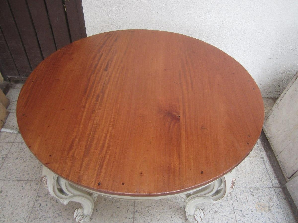 Mesa antigua maravillosa comedor redonda en for Comedor mesa redonda