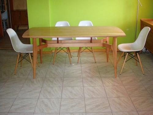 mesa comedor retro art deco sonica rauli a pedido