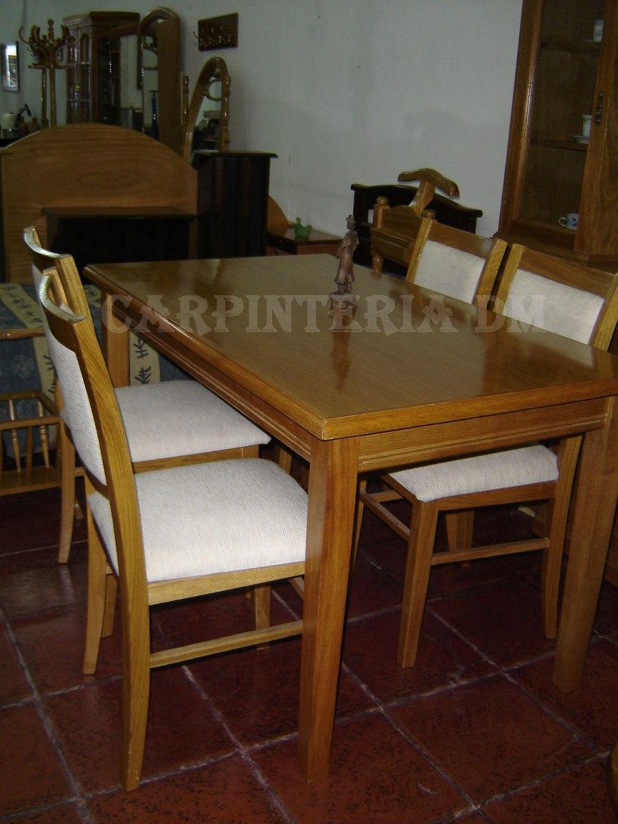 Mesa Comedor Roble 140x80cm 4 Patas - $ 8.954,00 en Mercado Libre