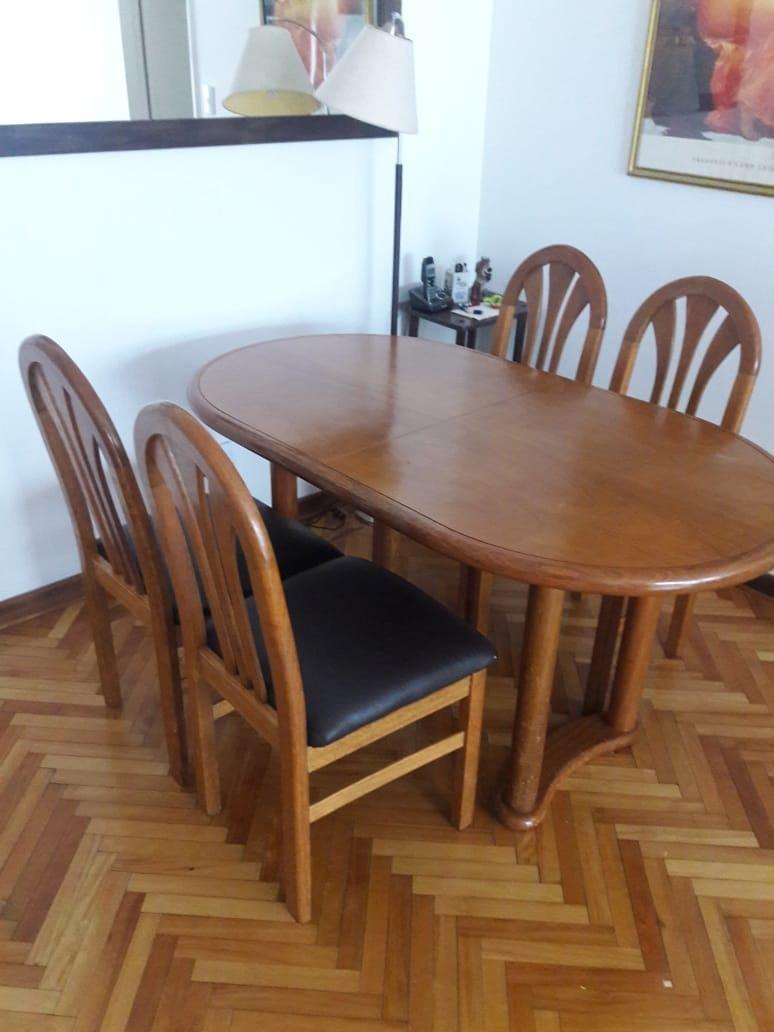 Mesa Comedor Roble - Extensible - 4 Sillas. - $ 7.500,00 en Mercado ...