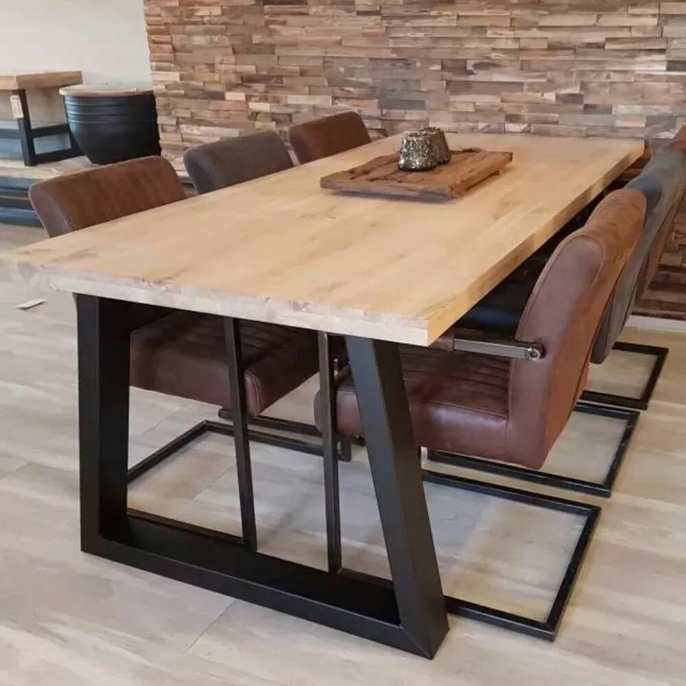 Mesa comedor rustica industrial hierro madera 12 pagos - Mesa comedor madera rustica ...