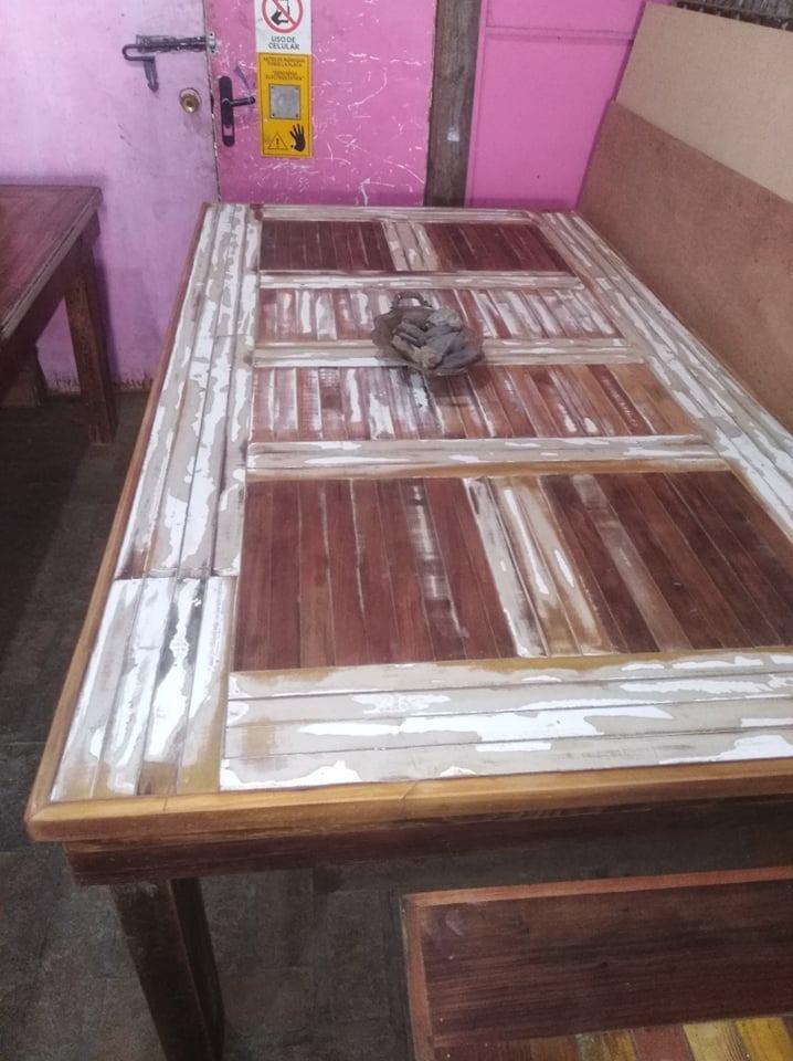 Mesa Comedor Rústica Vintage Retro Madera Recuperada